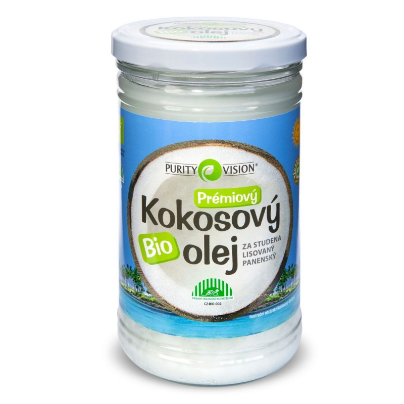 PURITY VISION Fair Trade Bio Kokosový olej panenský 900 ml