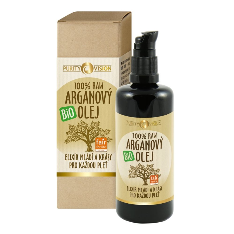 PURITY VISION Raw Bio Arganový olej 100 ml