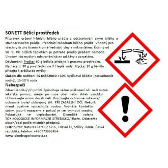 SONETT Bělící prostředek a odstraňovač skvrn 900 g - náhradní náplň
